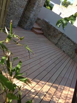 La turballe 44420 terrasse douglas plot béton et structure en douglas
