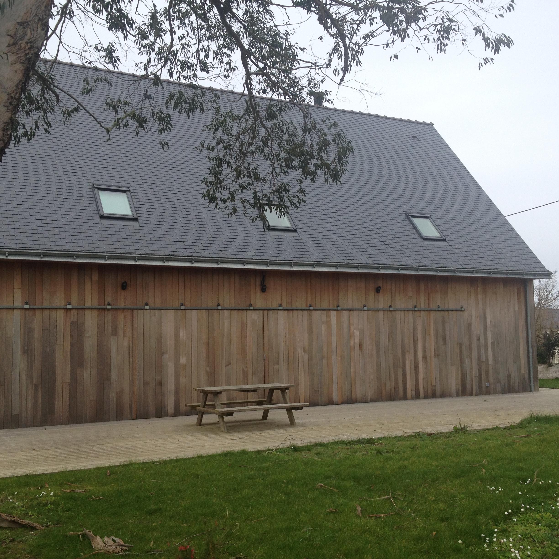 Toit plat ossature bois cheap terrasse tout autour de la - Garage bois toit plat leroy merlin ...